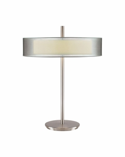 6015.13 Sonneman Puri Contemporary Table Lamp with Satin Nickel Finish