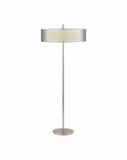6016.13 Sonneman Puri Contemporary Floor Lamp with Satin Nickel Finish