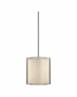 6019.13 Sonneman Puri Contemporary Large Pendant with Satin Nickel Finish