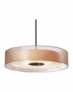 "6020.51 Sonneman Puri Contemporary 30"" Pendant with Black Brass Finish"