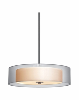 "6022.13 Sonneman Puri Contemporary 22"" Pendant with Satin Nickel Finish"