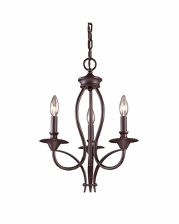 61031-3 Transitional Medford 3 Light Chandelier In Oiled Bronze