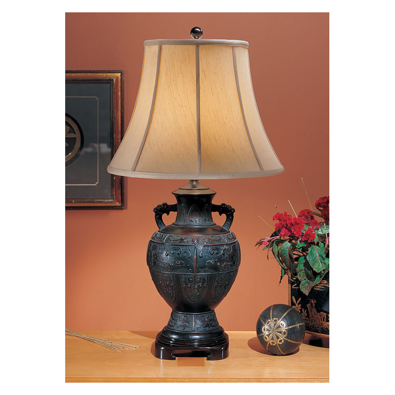 6118 Wildwood Lamps Alloy Chinese Vase Lamp
