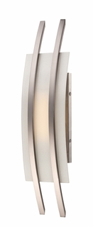 62/102 Nuvo Contemporary Brushed Nickel Trax 1 Module Wall Sconce w/ Frosted Glass