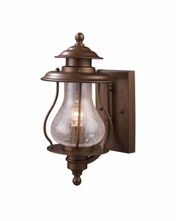 62005-1 Elk Wikshire 1 Light Outdoor Wall Mount In Coffee Bronze