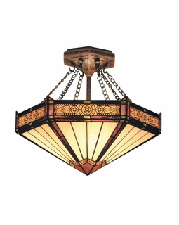 621-AB Elk Classics Filagree Semi Flush In Aged Bronze