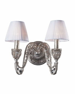 6230/2 Elk Classics Renaissance 2 Light Wall Sconce In Sunset Silver