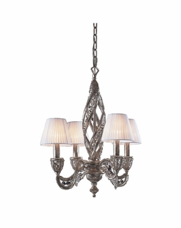 6235/4 Elk Classics Renaissance 4 Light Chandelier In Sunset Silver