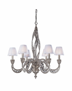 6236/6 Elk Classics Renaissance 6 Light Chandelier In Sunset Silver