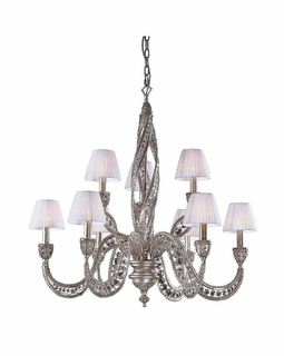 6237/6+3 Elk Classics Renaissance 9 Light Chandelier In Sunset Silver