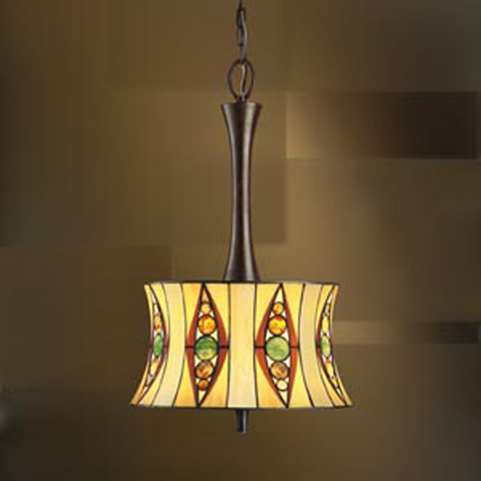 65278 Kichler Lighting Tiffany Pendant In Tannery Bronze Discontinued Item