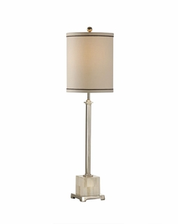 65321 Frederick Cooper Slender Buffet Lamp in Hand Inlaid Bone