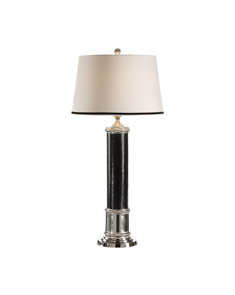 65331 frederick cooper leather column lamp