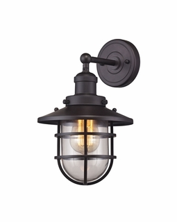 66366/1 ELK Lighting Seaport 1-Light Wall Lamp in Oil Rubbed Bronze with Clear Glass