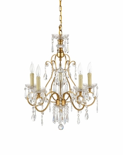 67021 Frederick Cooper Gold And Crystals Chandelier