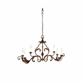 68016 Chelsea House Vintage Hall Chandelier-Italian Erusticated Oval Frame