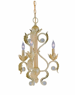 6803-CM Crystorama Winslow Handpainted Wrought Iron Mini Chandelier