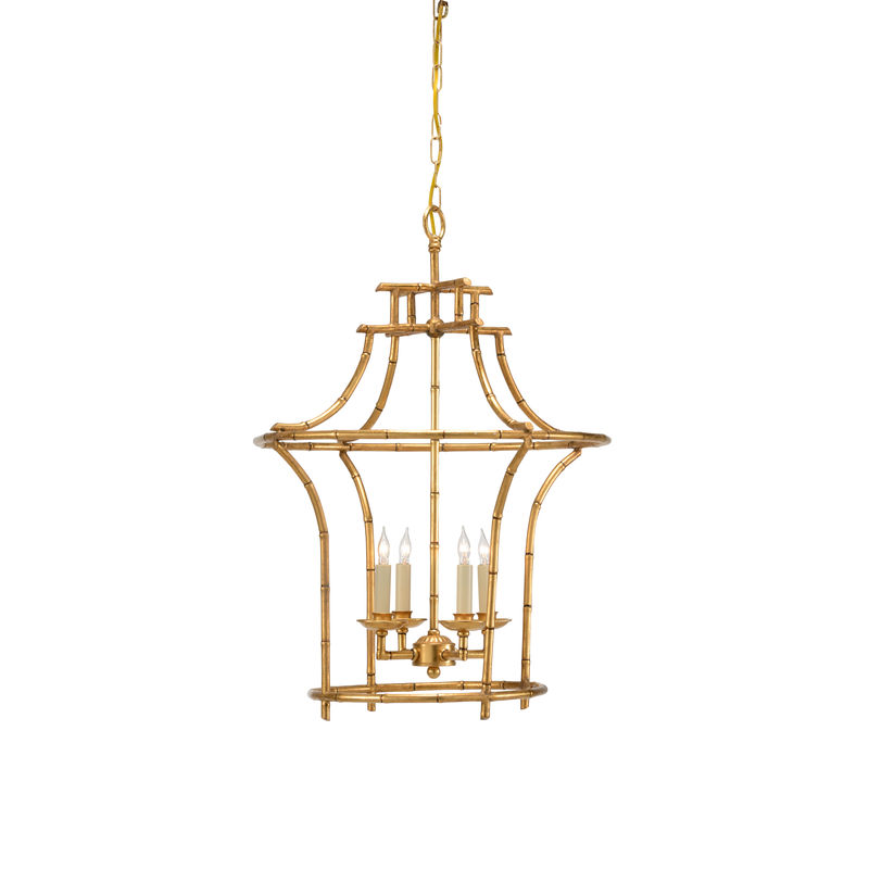 68030 chelsea house bamboo chandelier antique gold faux bamboo frame aloadofball Images