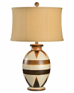 68541 Chelsea House Tribal Art Lamp