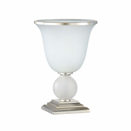 68985 Chelsea House Hunberry Lamp-Iron - Milk Glass Shade
