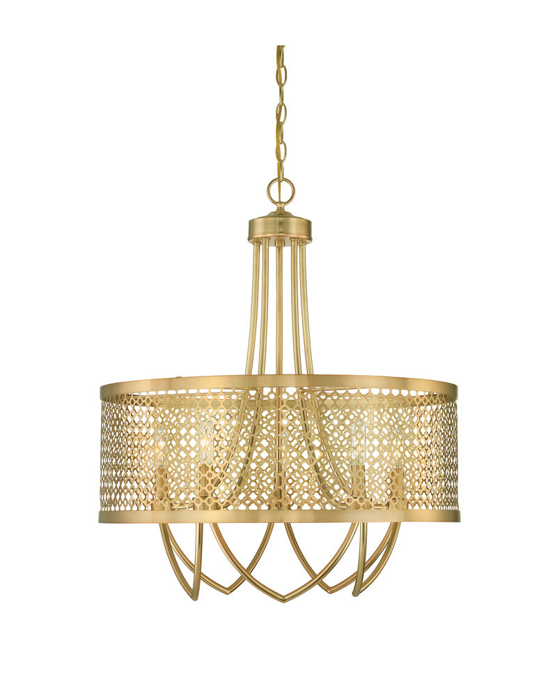 7-1281-5-325 Savoy House Raymond Waites Fairview 5 Light Large Pendant with Rubbed Brass Finish  sc 1 st  Five Rivers Lighting & 7-1281-5-325 Savoy House Raymond Waites Fairview 5 Light Large ... azcodes.com
