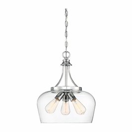 7-4034-3-11 Savoy House Transitional Octave 3 Light Pendant in Polished Chrome