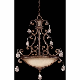 7-5311-5-8 Savoy House Traditional Chastain Pendant in New Tortoise Shell w/Silver