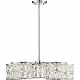 7-9200-5-11 Savoy House Transitional Citrine 5 Light Pendant in Polished Chrome