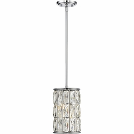 7-9203-2-11 Savoy House Transitional Citrine 2 Light Pendant in Polished Chrome
