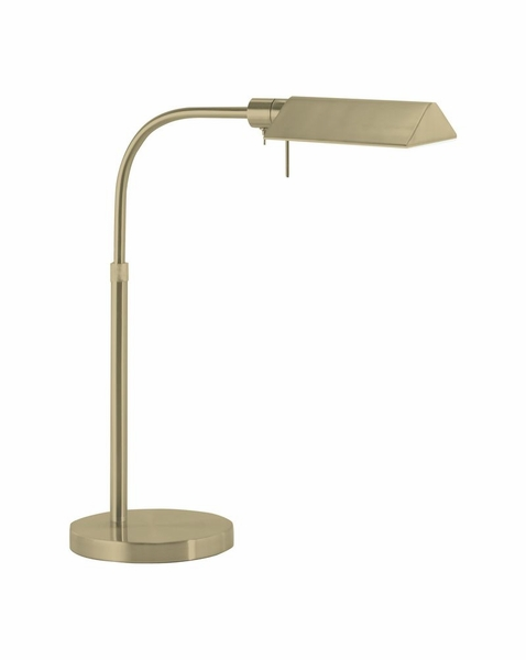 tenda contemporary pharmacy table lamp with satin brass finish. Black Bedroom Furniture Sets. Home Design Ideas