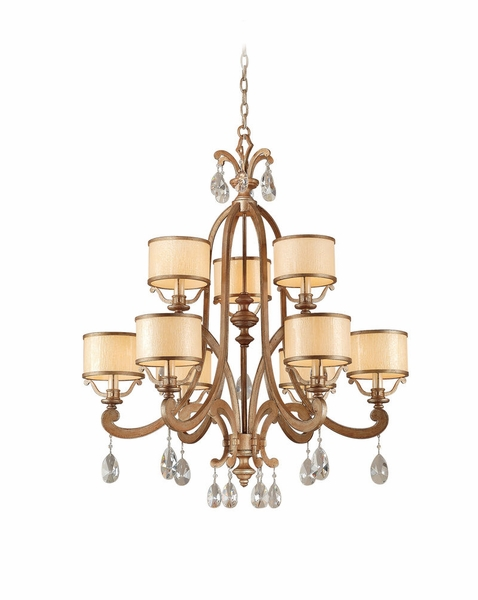 71 09 Corbett Roma 9lt Chandelier With Antique Roman