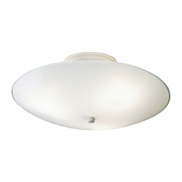 7350WH Builder Ceiling Space Flush Mount 3Lt (white) Package of 6