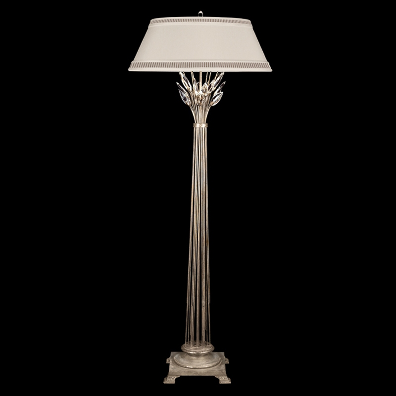 758820st fine art lamps crystal laurel 69 inch in line for Floor lamp with foot dimmer
