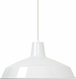 76/283 Nuvo Traditional White 1 Light 16 inch Pendant Warehouse Shade