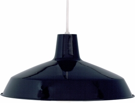 76/284 Nuvo Traditional Black 1 Light 16 inch Pendant Warehouse Shade