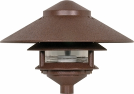 76/635 Nuvo Traditional Old Bronze 3 Louver LARGE 10 inch Top Pagoda