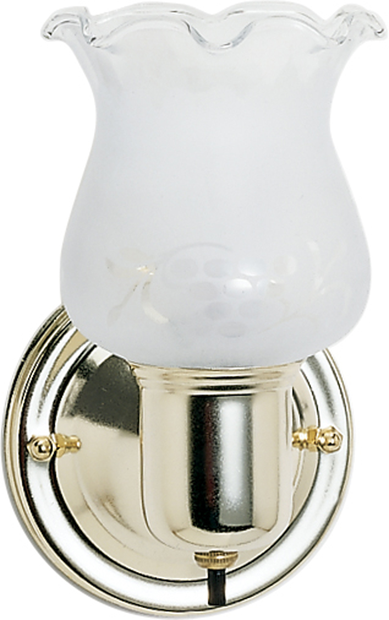77 120 Nuvo Traditional Polished Brass 1 Light 5 Inch