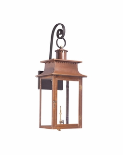7907-WP Elk Maryville Outdoor Gas Wall Lantern In Aged Copper