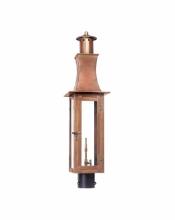 7910-WP Elk Maryville Outdoor Gas Post Lantern In Aged Copper