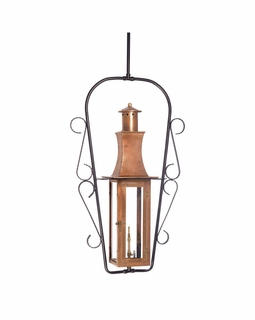 7912-WP Elk Maryville Outdoor Gas Ceiling Lantern In Aged Copper
