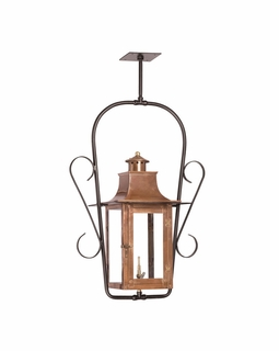 7916-WP Elk Maryville Outdoor Gas Ceiling Lantern In Aged Copper