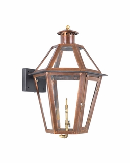 7921-WP Elk Grande Isle Outdoor Gas Wall Lantern Aged Copper