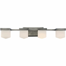 8-4068-4-57 Savoy House Transitional Dylan 4 Light Bath Bar in Polished Pewter