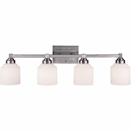 8-4658-4-69 Savoy House Mission Wilmont 4 Light Bath Bar in Pewter