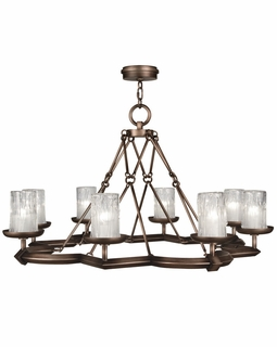 860340ST Fine Art Lamps Liaison 22 inch 8 Light Chandelier