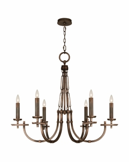 860640ST Fine Art Lamps Liaison 33 inch 6 Light Chandelier
