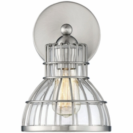 9-2102-1-SN Savoy House Transitional Grant 1 Light Sconce in Satin Nickel