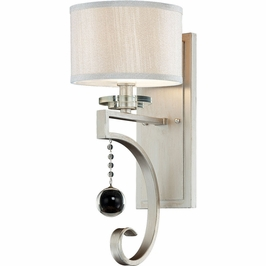 9-256-1-307 Savoy House Contemporary Rosendal 1 Light Sconce in Silver Sparkle
