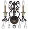 9-3013-2-8 Savoy House Traditional St. Laurence 2 Light ADA Sconce in New Tortoise Shell w/Silver