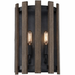 9-4104-2-133 Savoy House Transitional Santiago 2 Light Sconce in Sapele